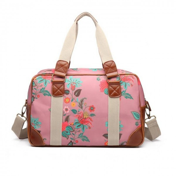 Travelbag Canvas Botanical Dusty Plum