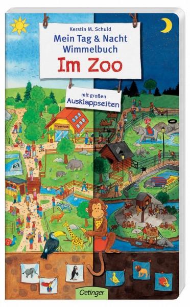 Mein Tag und Nacht Wimmelbuch Zoo