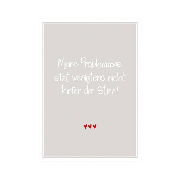 "Postkarte hoch ""Problemzone"""