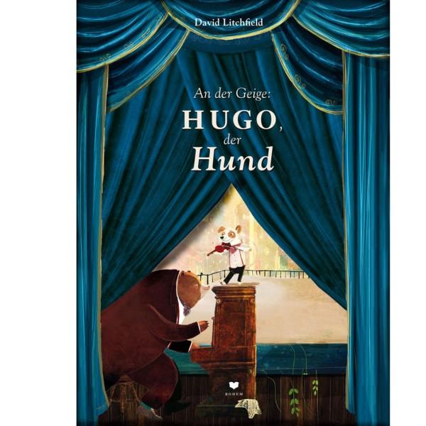 An der Geige: Hugo der Hund