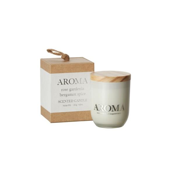 Aroma Duftkerze rose, gardenia & bergamot S