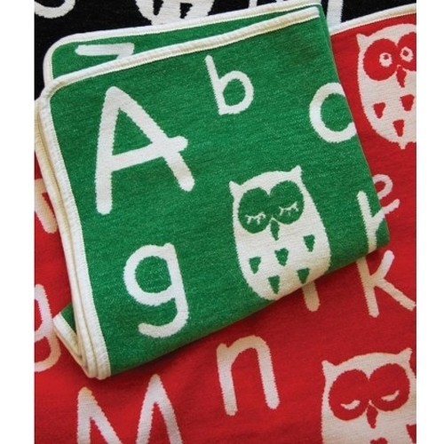 Babydecke ABC grün