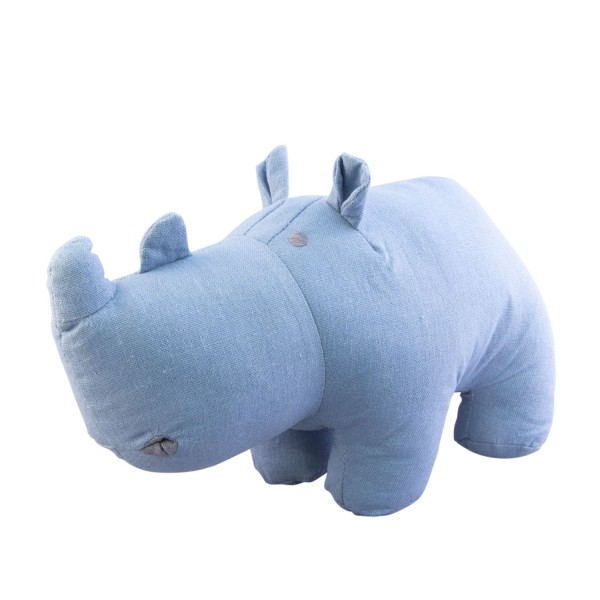 Kuscheltier Nashorn blau