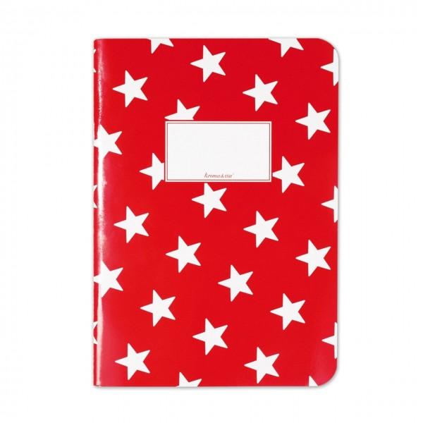 Notizheft Sterne Rot DIN A5