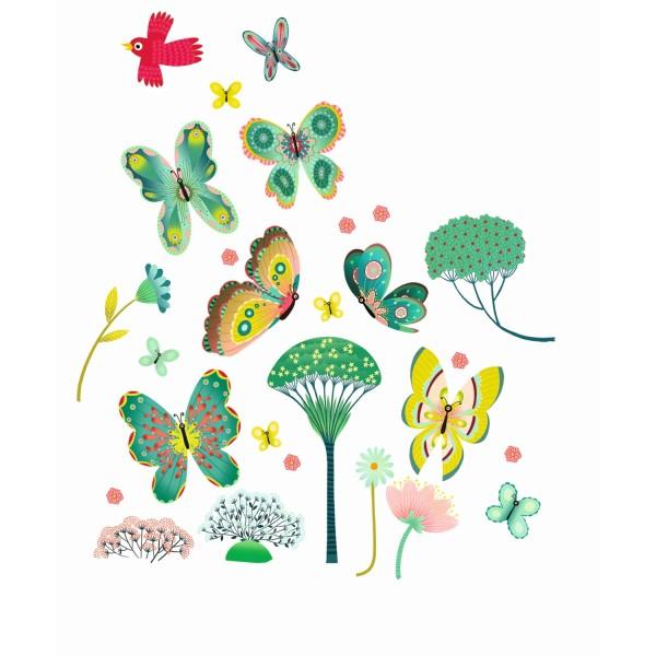 Fenstersticker Schmetterlinge im Garten