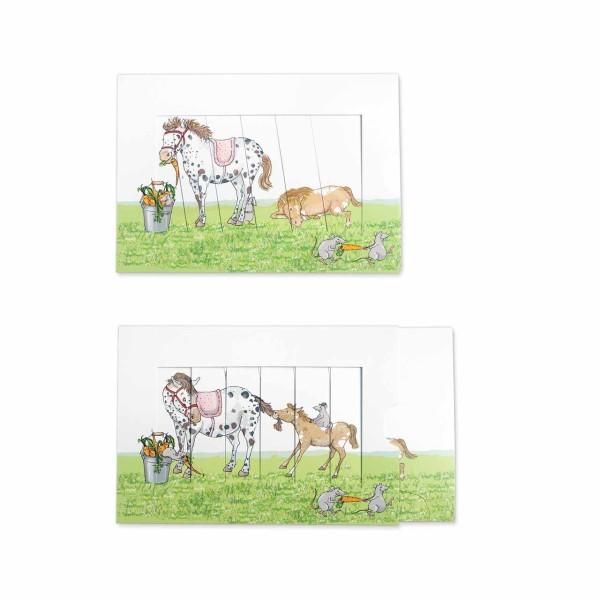KRIMA Schiebekarte Pony