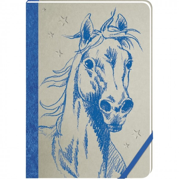 Notizbuch Pferdefreunde blau