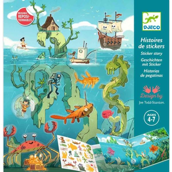 DJECO Stickerbuch: Meeresabenteuer