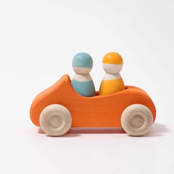 Holzauto Cabrio Orange