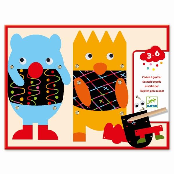 Kratzbilder 3-6: Kleine Monster