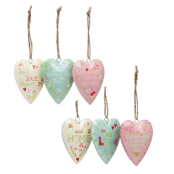 Lovely Hearts mit Spruch Englisch