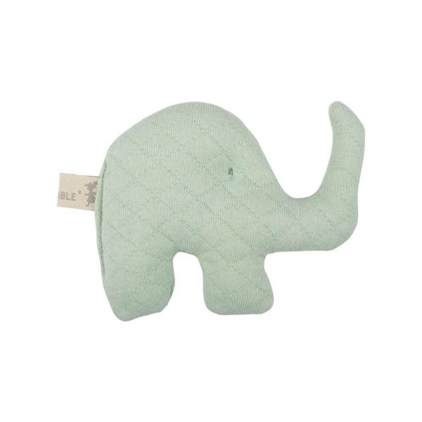 Mini Rassel Elefant grün