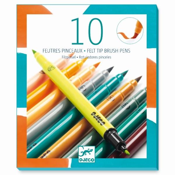 10 Filzstifte Erdfarben