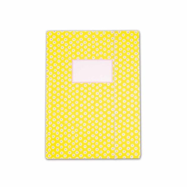 Sammelmappe Tupfer Gelb A4