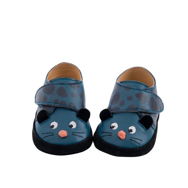 Baby-Lederschuhe blau 6/12m
