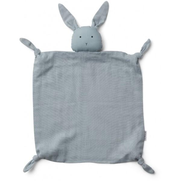 Schmusetuch Hase hellblau