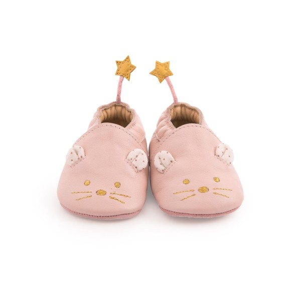 Baby-Lederschuhe Pink 6/12 m
