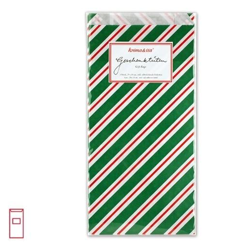 Tüten Weihnachststreifen grün