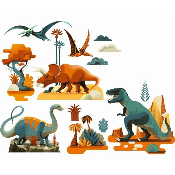 Fenstersticker Dinosaurier