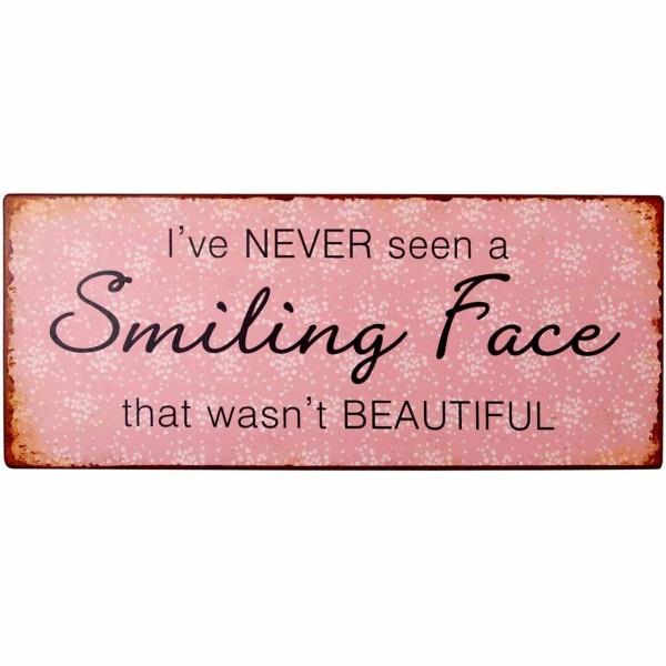 Metallschild Beautiful Smile