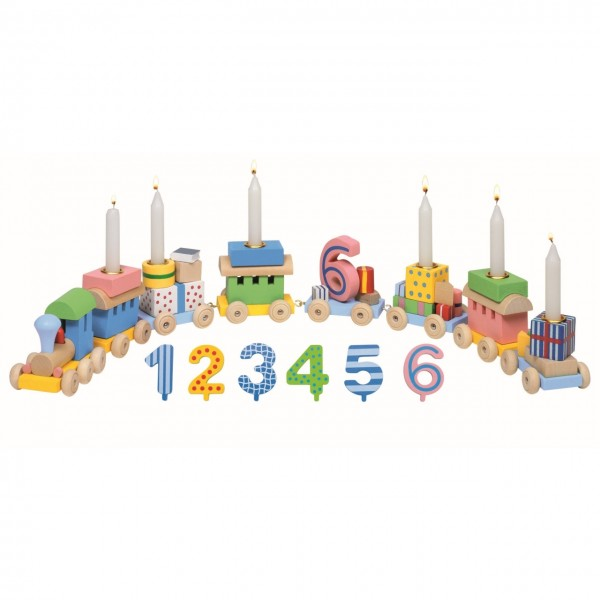 Geburtstagszug Zahlen 1-6