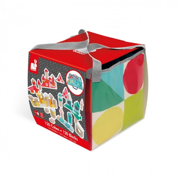 Kubix - 120 Bausteine mit Spieltasche