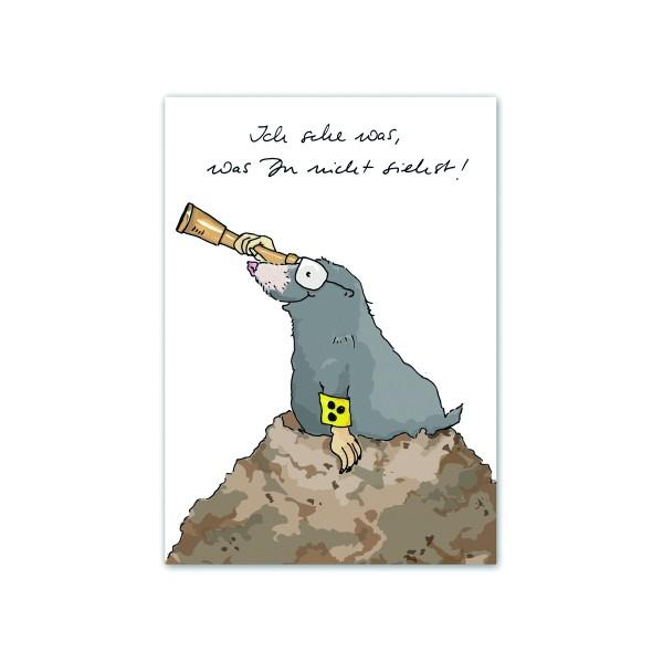 Postkarte Maulwurf