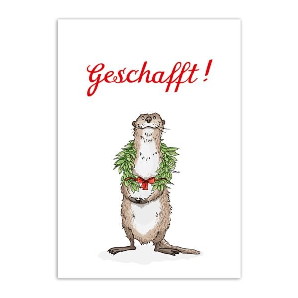 Postkarte Geschafft !