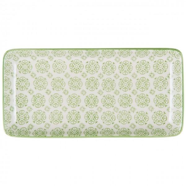 Tablett-Teller Casablanca grün