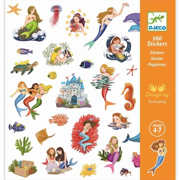 DJECO Sticker: 160 Meerjungfrauen
