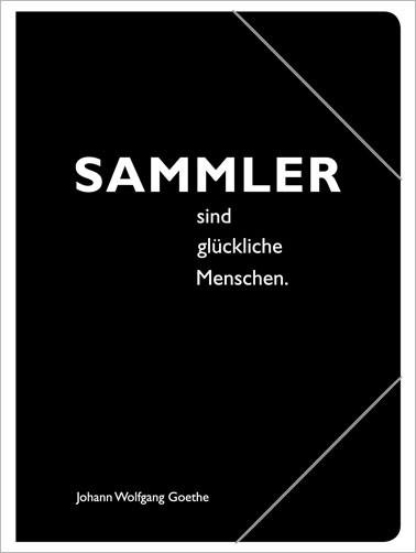 """Sammelmappe, schwarz, Goehte """"Sammler"""""""