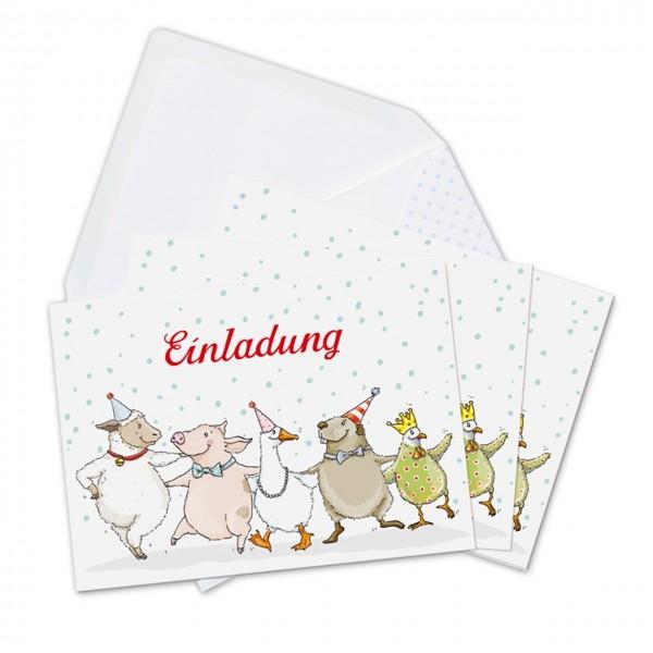 Einladungskarten Tierparade