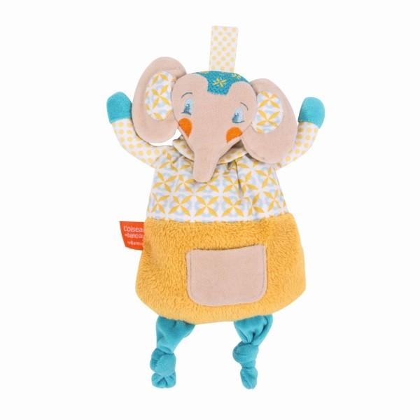 Schmusetuch gelber Elefant