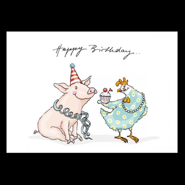 Postkarte Cupcake Birthday