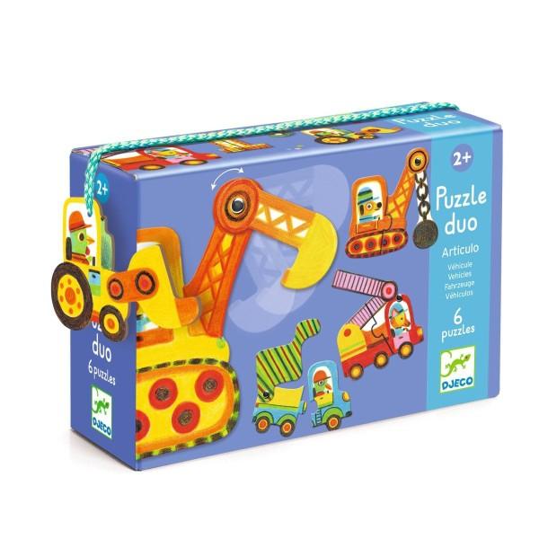 Duo Puzzle Fahrzeuge 2+