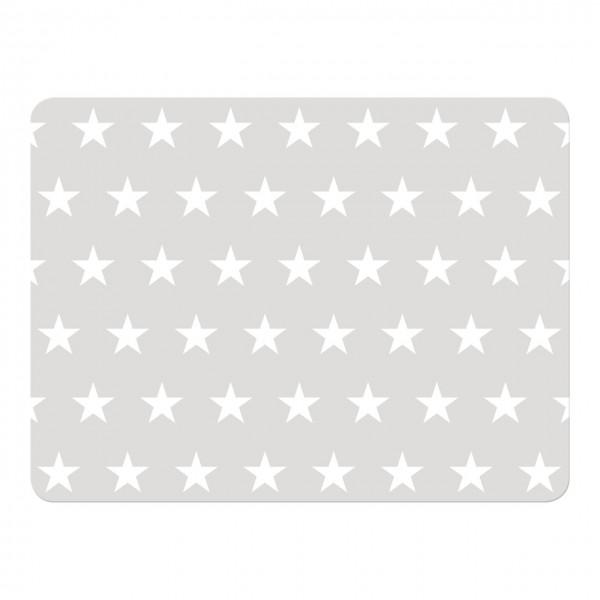 Platzset Sterne grau