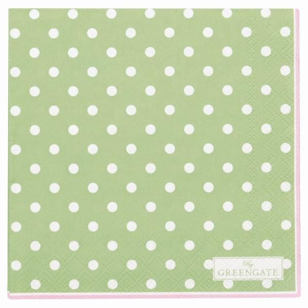 Papierserviette Spot klein pale green
