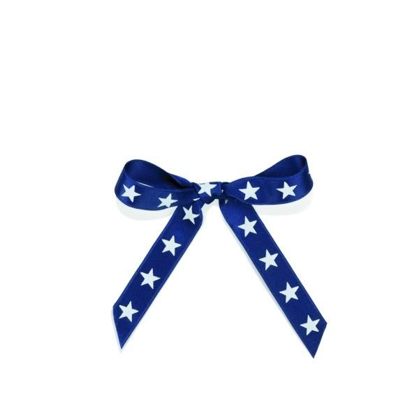 Schleifenband Sterne blau