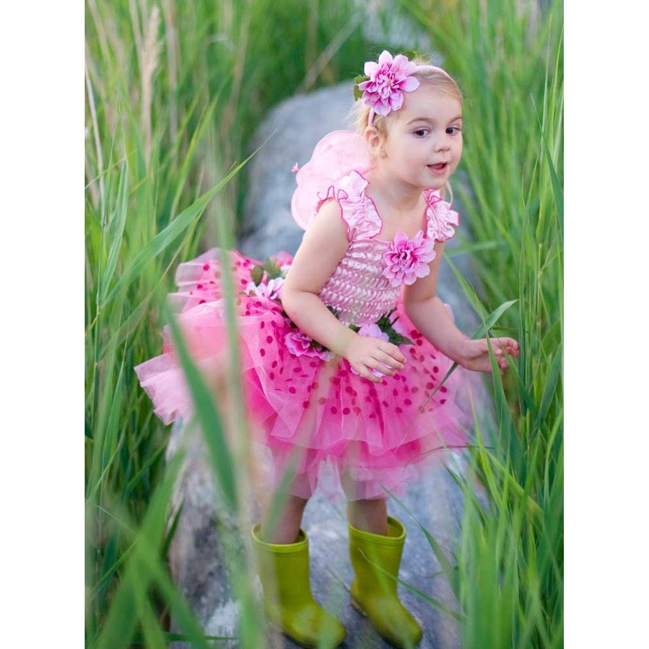 feenkleid rosa mit flügeln s  verkleidungskiste
