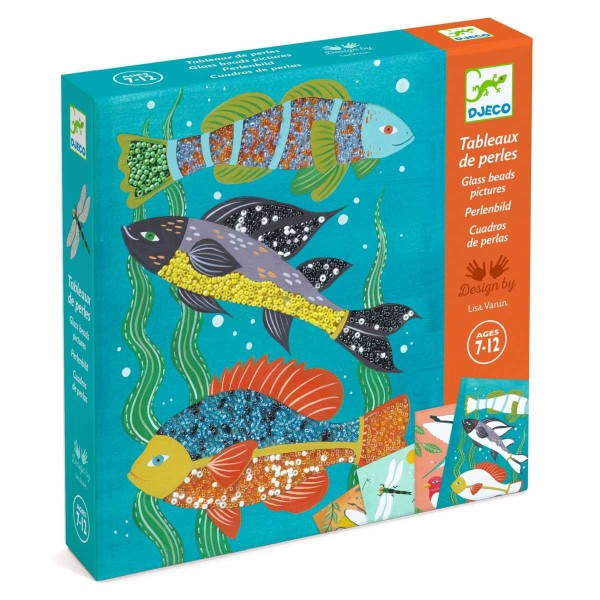 Perlenbilder mit Fischen