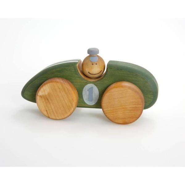 Holzspielzeug grüner Rennwagen