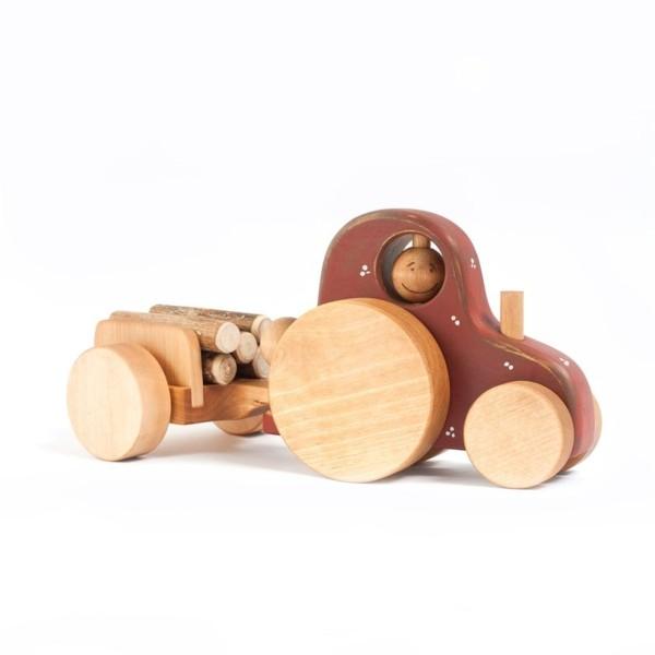 Holzspielzeug Traktor