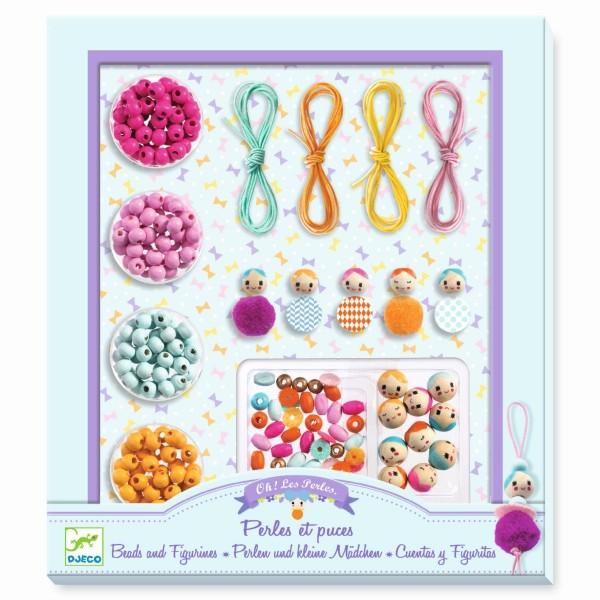 Schmuck basteln: Perlen und kleine Mädchen