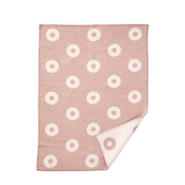Baby Wolldecke Ringe rosa