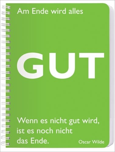 "Notizblock A5, Wilde ""Gut"""