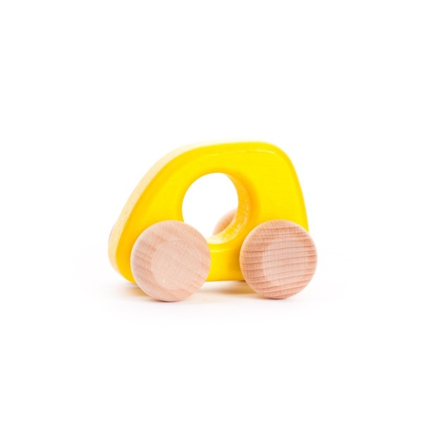 Holzauto klein gelb