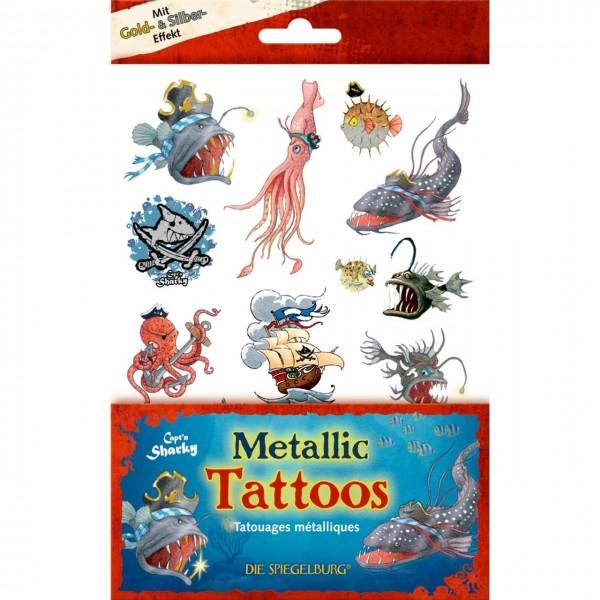 Metallic Tattoos Capt`n Sharky Tiefsee