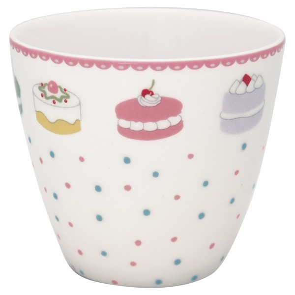 Latte cup Becher Madelyn white