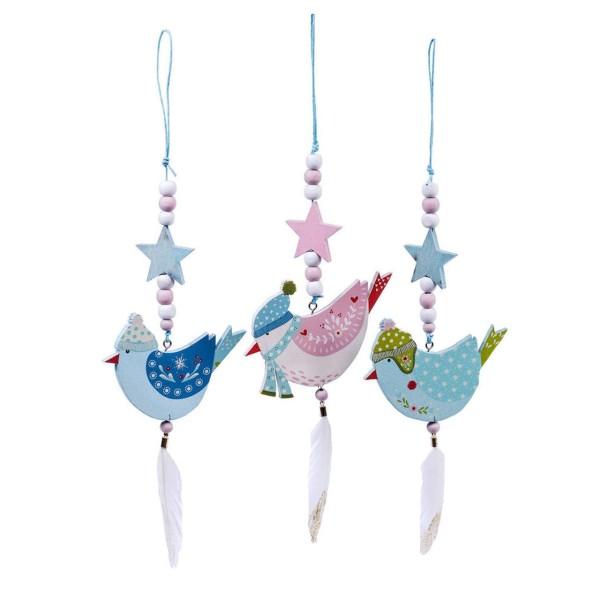 Holz-Anhänger Christmas Birds