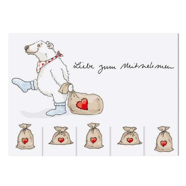 KRIMA Postkarte Liebe zum Mitnehmen